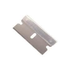 grattoir métallique 40mm avec lame rétractable pour carrosserie et vitrage automobiles.