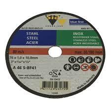 boite de 5 disques à tronçonner sia 76mm pour la carrosserie automobiles. color diffusion sarl