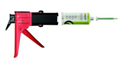 Pistolet pour cartouche bi composants de réparation plastiques Finixa. Pistolet vendu seul.