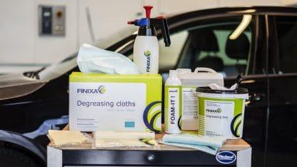 Ensemble de produits Finixa de préparation carrosserie