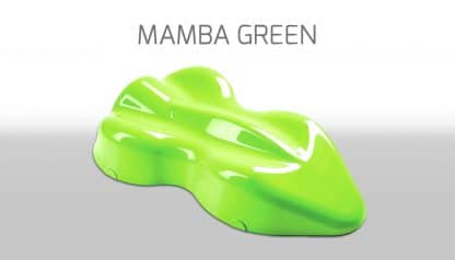 peinture fluo manba green custom créative