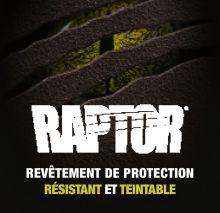 Aérosol revêtement noir Raptor 2K 400ML RLB/AL